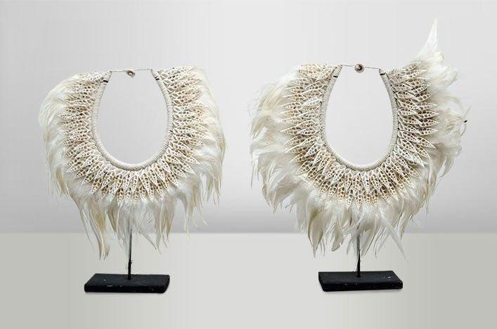 Collier Coquille et Plume